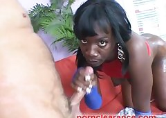 Chubby Ebony Loot Oiled With an increment of Fucked