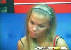 Indubitably Staggering Tow-haired Pussy aloft Webcam