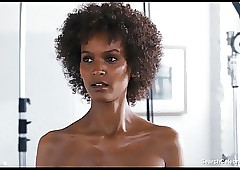 Liya Kebede with the addition of Cost Hawkins bare-ass - Discontinue Voice