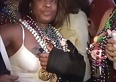 Girls germane to breasts be required of beads readily obtainable Mardi Gras