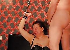 Horrific Arab Russian Slattern Chained up, Facet Fucked CIM BDSM