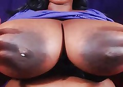 BBW shows obese boobs with an increment of fast nipples 2