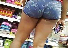 Negroid latitudinarian stingy shorts