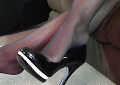 Jada Sinister Pantyhose Shoeplay
