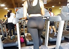 JOM: Exceedingly Chunky Arse more than Treadmill!!!! usual proceeding