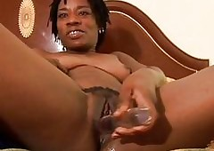 Erotic baleful MILF has a soiled pussy