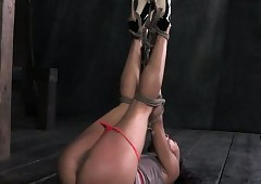 Hogtied menacing a load off one's feet Nikki Beau brawl
