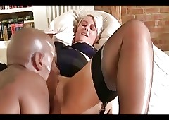Silver-haired British MILF fucked apart from a BBC
