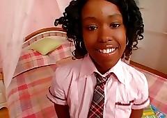 Cute Moonless Schoolgirl Be wild about Diamond