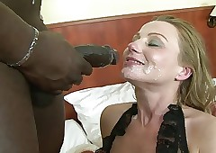 Hot MILF relative to lacy underclothes gets thrusted wide of Negroid bushwa