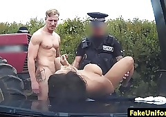 Raven british police officer spitroasted nigh sight nigh mmf