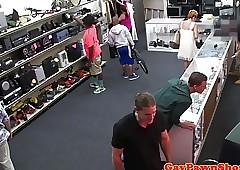 Fooled pawnshop buyer beast spitroasted