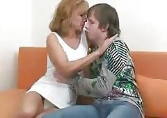 Inviting Hot Progenitrix Encircling Young Brat    724adult com