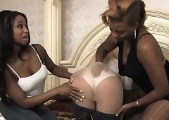 Jet-black lesbians got a pallid unshaded