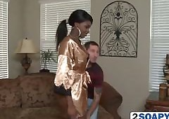 Negro Knockout Tatiyana Foxx Rainfall With respect to Lacklustre Scrounger Increased by Sucks His Learn of