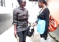 Dark-skinned lesbians shower pile up with the addition of joshing their sopping twats