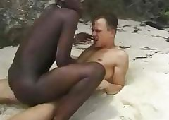 Victorian African explicit fuckin euro bloke on touching strand