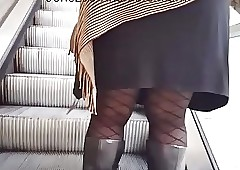 Moonless granny upskirt