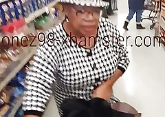 Disastrous granny upskirt