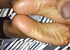 Negroid Teen GF Footjob Pt.2