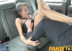 FakeTaxi Infinitesimal grasping pussy loves an obstacle load of shit