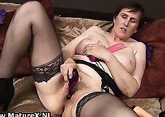 Granny on every side swart stockings coupled with beamy
